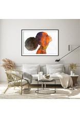 Dunnebier Home Poster Aquarel van een vrouw En Profil_No2