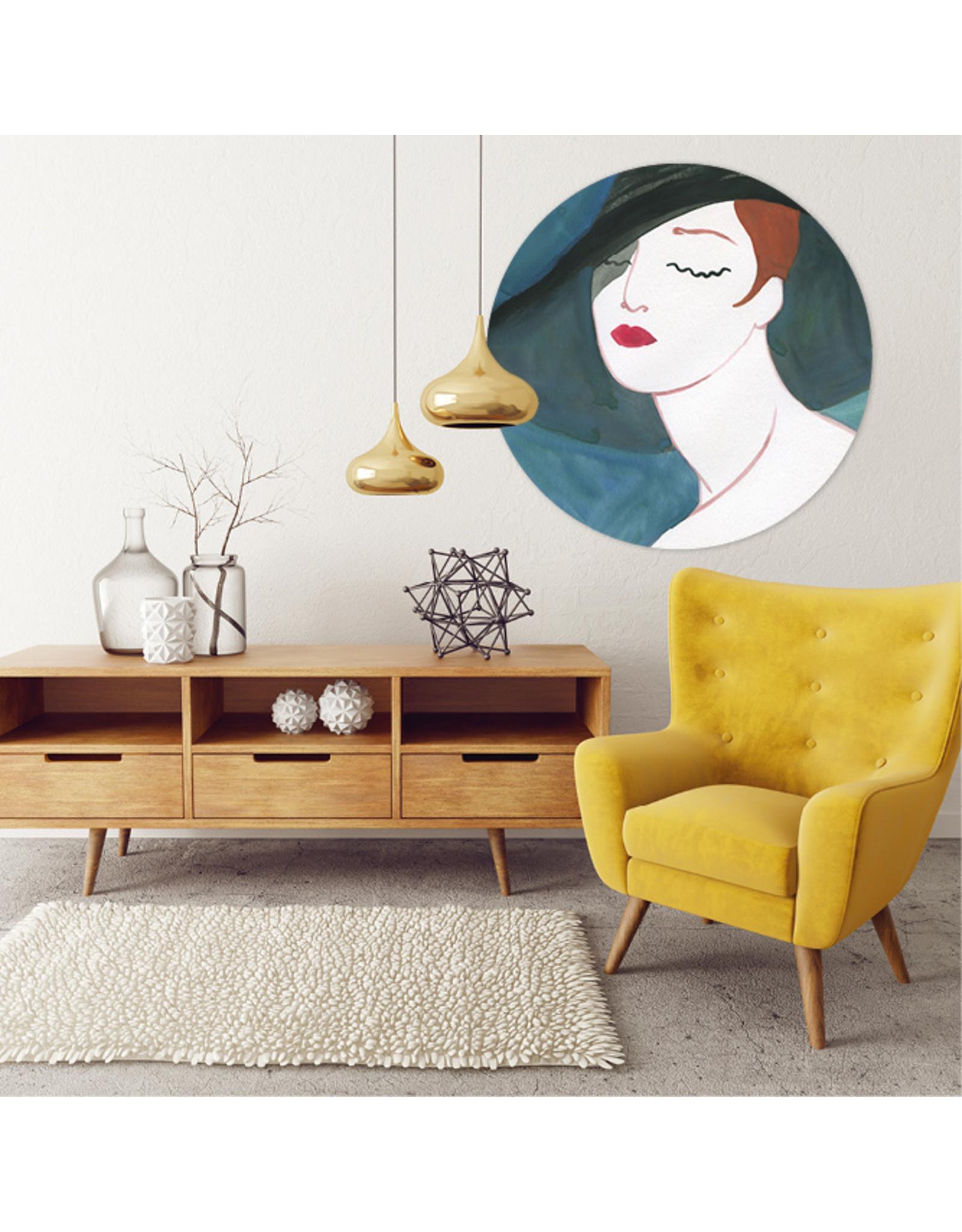 Dunnebier Home Muursticker Woman_painting_No2 - verwijderbaar