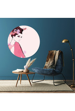 Dunnebier Home Muursticker Woman in pink - verwijderbaar