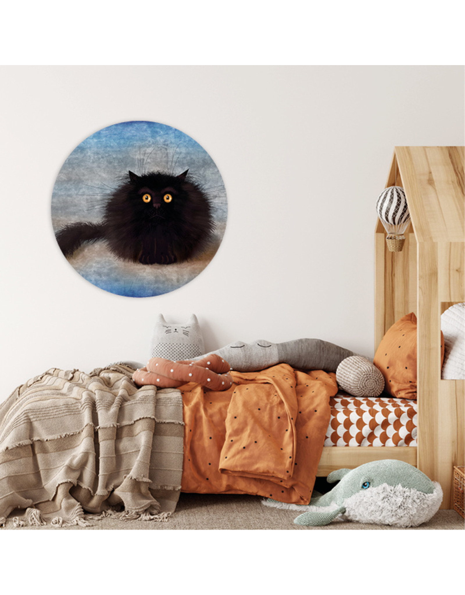 Dunnebier Home Muursticker Black Cat - verwijderbaar