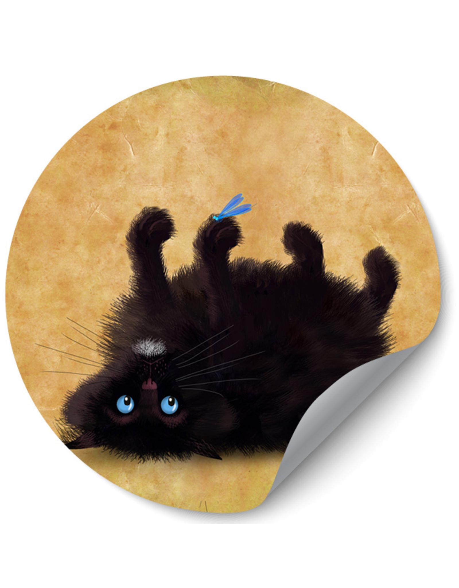 Dunnebier Home Muursticker Black Cat_No2 - verwijderbaar