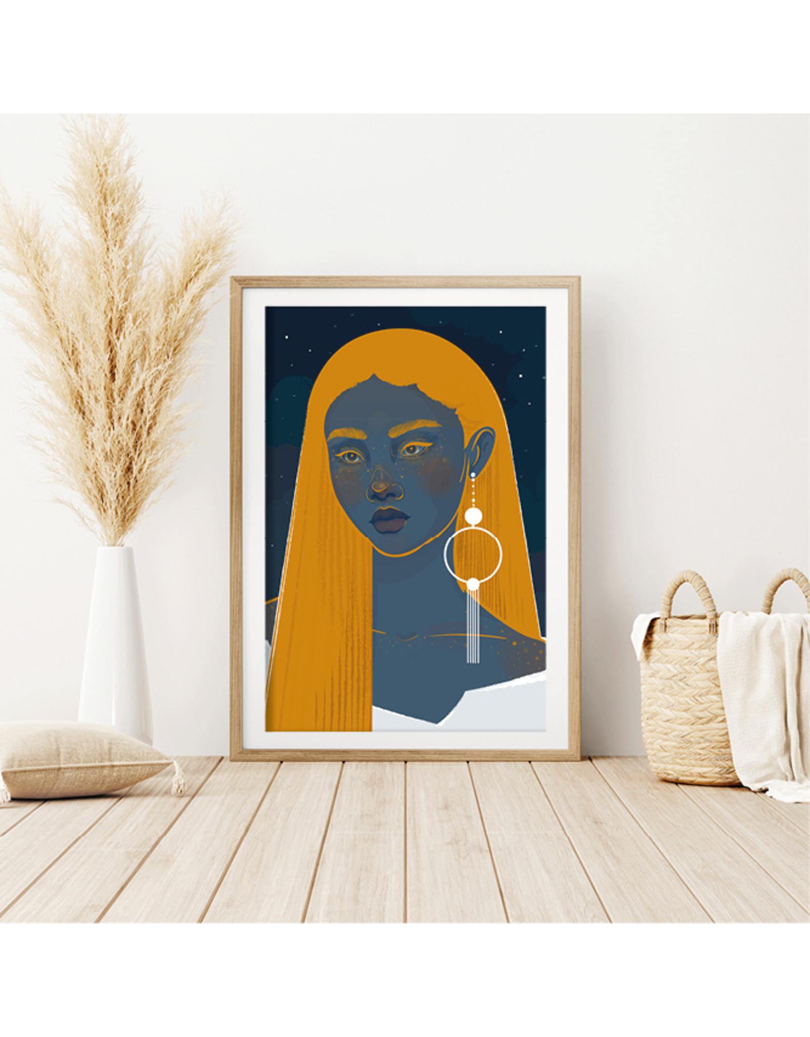 Dunnebier Home Poster Vrouw met oorbel