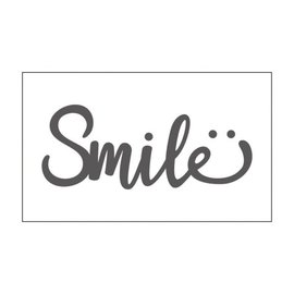 "Vaessen Vaessen embossing folder 3x5"" smile"