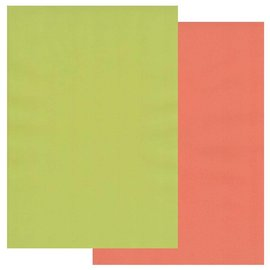 Groovi Groovi Parchment Paper A4 Two Tones Lime Twist-Orange Squash