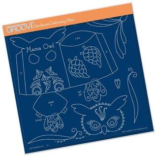 Groovi Groovi Linda's Mama Owl A4 Square Plate
