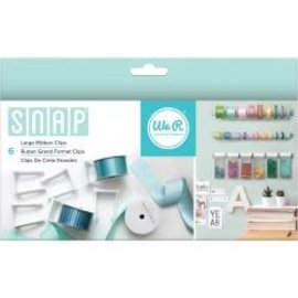 We R Memory Keepers Snap Storage Ribbon Clips 6/Pkg Large