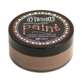 Ranger Dylusions paint melted chocolate