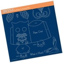 Groovi Linda Williams Papa owl template A4 Sq plate