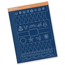 Groovi CHRISTMAS CRACKER  A4 GROOVI TEM-PLATE