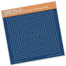 Groovi NESTED DECKLE SQUARES  A5 SQUARE GROOVI PLATE
