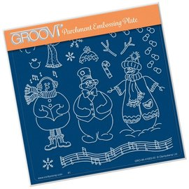 Groovi LINDA'S BUILD A SNOWMAN  A5 SQUARE GROOVI PLATE