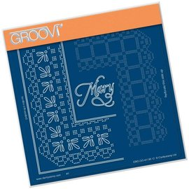 Groovi QUEEN MARY LACE DUET  A5 SQUARE GROOVI PIERCING GRID
