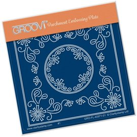 Groovi TINA'S ASTER FLOWERS PARCHLET  A6 SQUARE GROOVI BABY PLATE