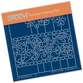 Groovi TINA'S FLORAL PANEL  A6 SQUARE GROOVI BABY PLATE