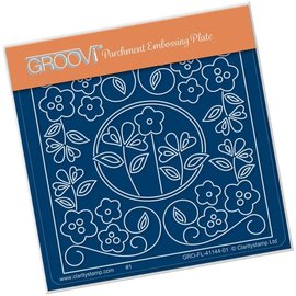 Groovi TINA'S FLORAL WINDOW  A6 SQUARE GROOVI BABY PLATE