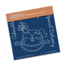 Groovi ROCKING HORSE  A6 SQUARE GROOVI BABY PLATE