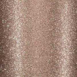 Florence • Glitter papier zelfklevend LICHT BRUIN 30.5x30.5 cm