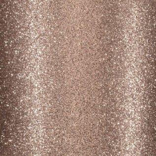 Florence • Glitter papier zelfklevend LICHT BRUIN