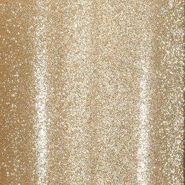 Florence • Glitter papier zelfklevend licht goud 30.5x30.5 cm