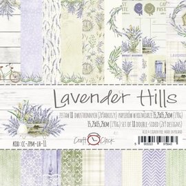 Craft O' Clock LAVENDER HILLS - A SET OF PAPERS 15,25X15,25CM