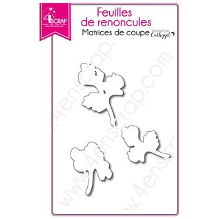 4enscrap BLADJES BLOEMEN - FEUILLES DE RENONCULES
