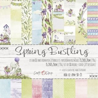 Craft O' Clock SPRING BUSTLING - A SET OF PAPERS 15,25X15,25CM