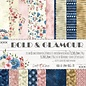 Craft O' Clock BOLD & GLAMOUR - A SET OF PAPERS 15,25X15,25CM