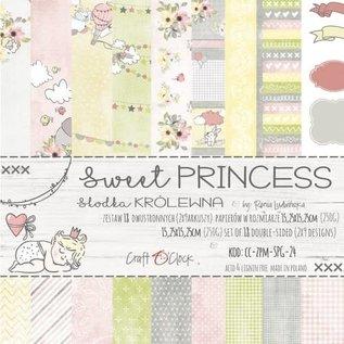 Craft O' Clock SWEET PRINCESS - A SET OF PAPERS 15,25X15,25CM