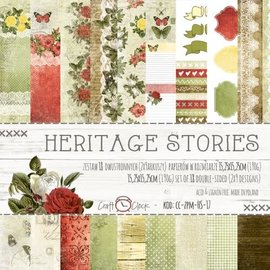 Craft O' Clock HERITAGE STORIES - A SET OF PAPERS 15,25X15,25CM