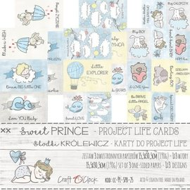 Craft O' Clock SWEET PRINCE - A SET OF PROJECT LIFE CARDS