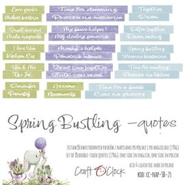Craft O' Clock SPRING BUSTLING - DIE - CUTS QUOTES