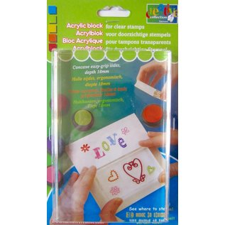 "Vaessen Clear stamp acrylic block ""TOP"" 18x43x150mm"