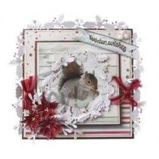 Joy! crafts Snij- embosstencil Jingle Bells krans