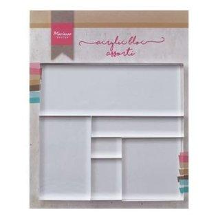 Acrylic stamp block set