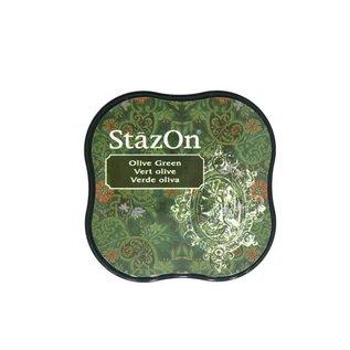 Tsukineko StazOn midi solvent dye ink 5,8x5,8cm olive green