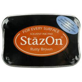 Tsukineko Stazon inkpad rusty brown