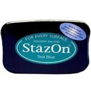 Tsukineko Stazon inkpad TEAL BLUE