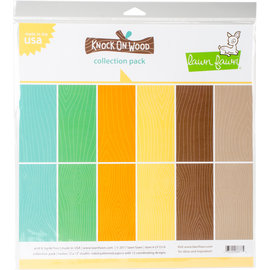 Lawn Fawn Lawn Fawn Knock on Wood 12x12 Inch Paper Pad
