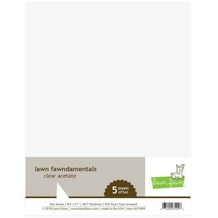 Lawn Fawn Five sheets of clear acetate