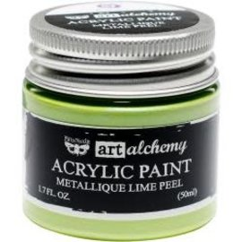 Art Alchemy Art Alchemy Acrylic Paint Metallique Lime Peel