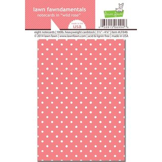 Lawn Fawn Notecards in 'wild rose'