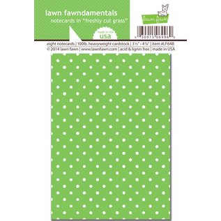 Lawn Fawn Freshly cut grass notecards