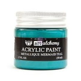Art Alchemy Art Alchemy Acrylic Paint Metallique Mermaid Teal
