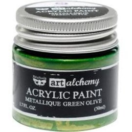 Art Alchemy Art Alchemy Acrylic Paint Metallique Green Olive