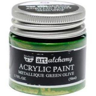 Art Alchemy Art Alchemy Acrylic Paint Metallique Green Olive