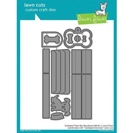 Lawn Fawn scalloped treat box dog house add-on