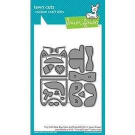 Lawn Fawn tiny gift box raccoon and fox add-on