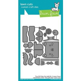 Lawn Fawn tiny gift box cat add-on