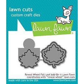 Lawn Fawn reveal wheel fall leaf add-on