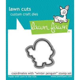 Lawn Fawn winter penguin - lawn cuts